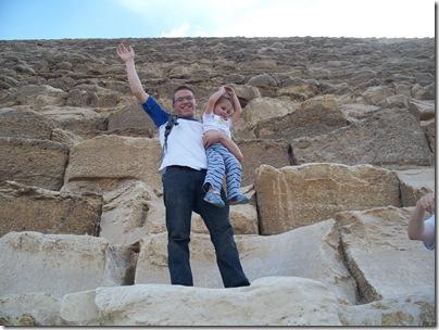 12-29-2009 048 Giza Pyramids - Jacob & Rachel