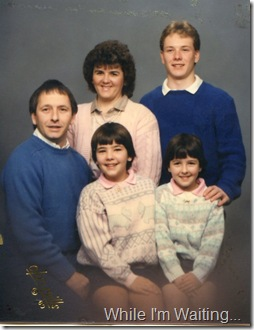 1989 - Greg, Julie, Jody, Jill and Justin Rodgers