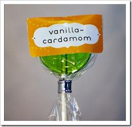 vanilla-cardamom lollipop