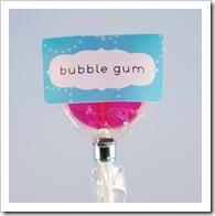 Bubble Gum flavored lollipop
