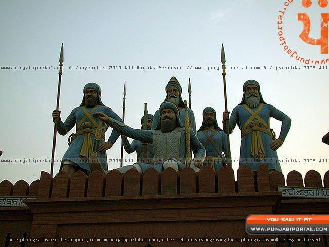Banda Bahadur Sikh Sculpture in Gurudwara Mehtiana Sahib Near Moga