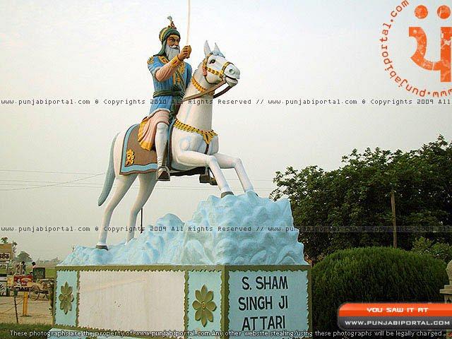 Sardar Sham Singh Atari Sikh Sculpture in Gurudwara Mehtiana Sahib Near Moga