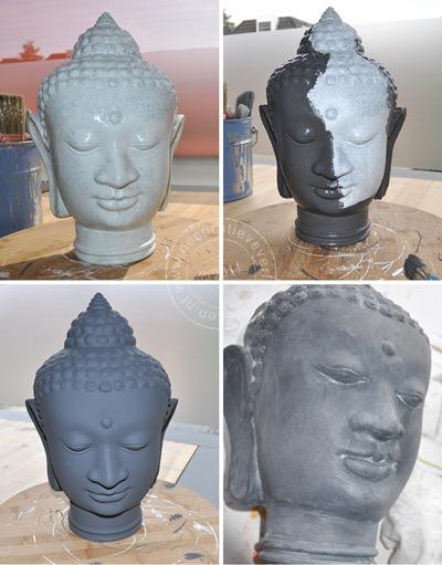 verftechnieken Boeddha make-over