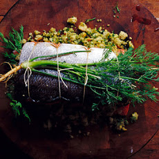 Herb-Stuffed Baked Salmon Recipe