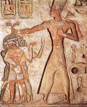 Relief Ramesses II, Fir'aun yang kerap digambarkan sebagai sosok yang kerap menyiksa para budak pekerja