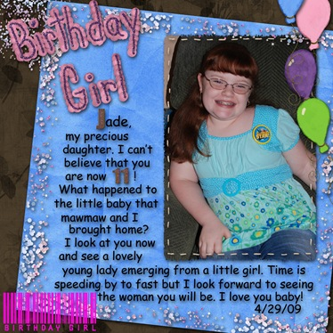 Nancy-Birthday Girl