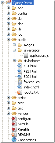 Application before adding jquery