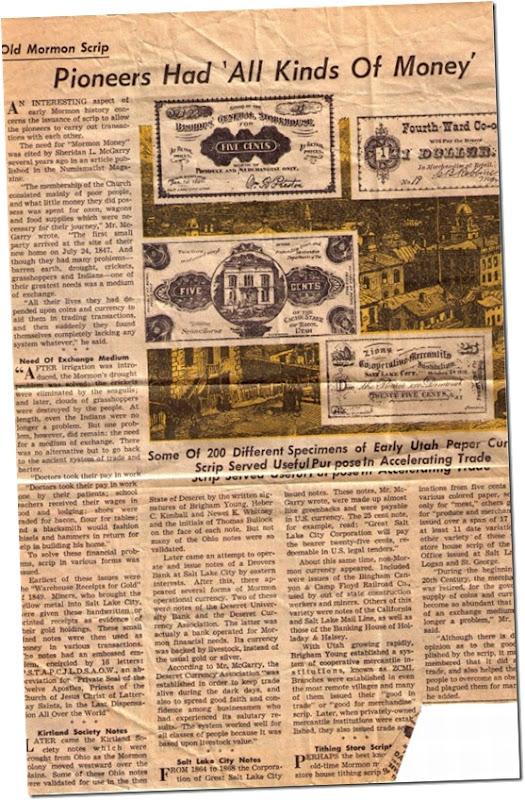 Mormon Pioneer Money fullsm