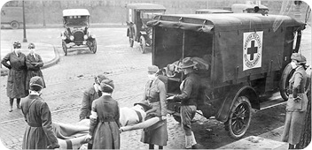 Spanish flu ambulance