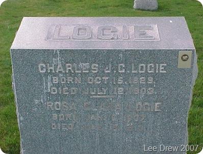 Charles Rosa Logie Headstone