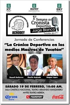 Poster Semana del Cronista 2011