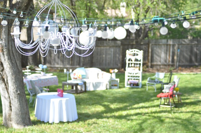 domestic fashionista backyard bridal shower