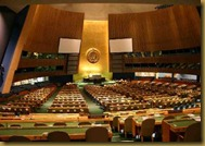 General Assembly Hall at UN Headquarters in New York