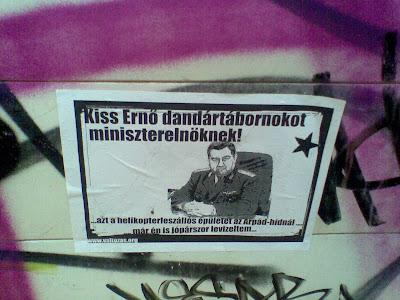 blog, Budapest, Magyarország, plakát, public art, street art, vicces, választás, Kiss Ernő dandártábornok