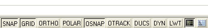 AutoCAD 2008 Status Bar