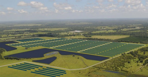 solar power plant. The largest solar power plant
