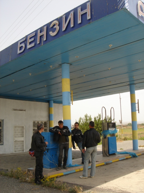 An abandoned petrol station break at Metsamor