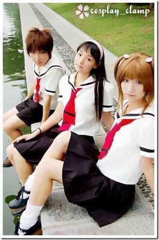 card captor sakura cosplay - li syaoran, daidouji tomoyo, and kinomoto sakura