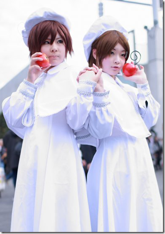 unknown cosplay 43 / hetalia: axis powers cosplay - italy romano and italy veneziano