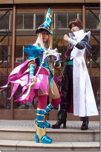 yu-gi-oh! cosplay - magician's valkyria and kaiba seto