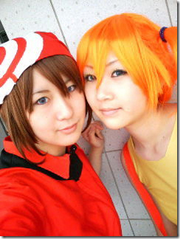 pokemon advanced cosplay - may and misty / haruka and kasumi