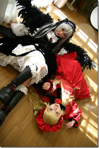 rozen maiden cosplay - suigintou and shinku