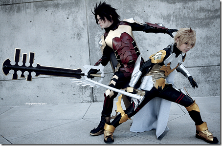 kingdom hearts: birth by sleep cosplay - terra and ventus aka ven