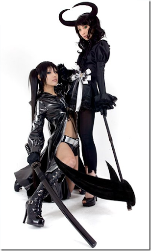 black rock shooter cosplay - black rock shooter and dead master