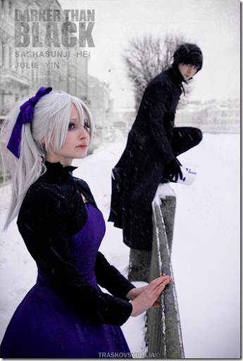 darker than black: kuro no keiyakusha cosplay - yin and hei