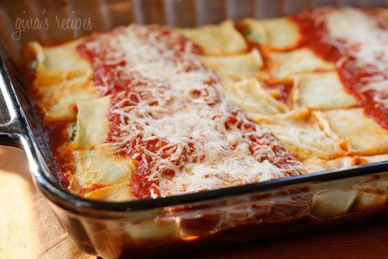 Homemade Spinach Manicotti | Skinnytaste