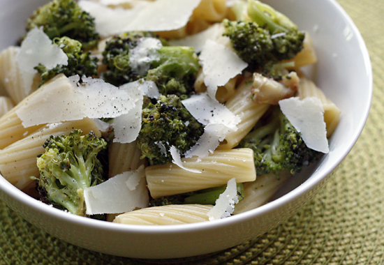 Pasta with Roasted Broccoli with Garlic and Oil | Skinnytaste