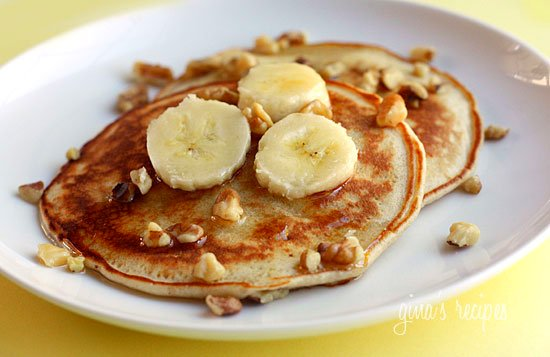 Calling All Banana Lovers To These Low Fat Whole Wheat Nut Pancakes Rich