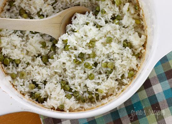 Baked Rice and Peas   Skinnytaste