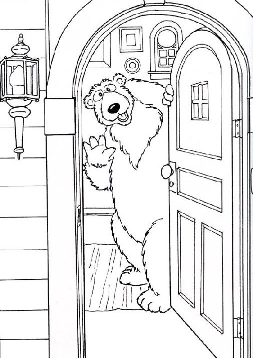 Dibujos de niños abriendo una puerta para colorear - Imagui