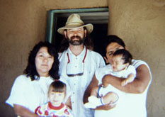 In my 30s, with a family I befriended at Taos Pueblo