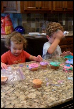 cupcakes with connor and kate