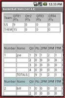 Screenshot of Basketball Stats