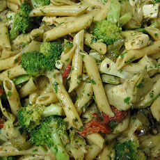 Penne With Chicken and Broccoli in Gorgonzola Cream Sauce