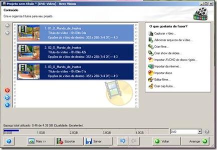 nero - organizando os arquivos