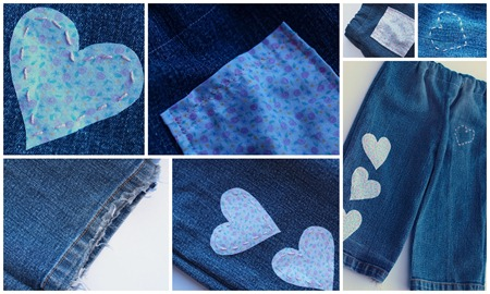 blue jeans collage