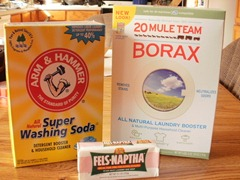 Borax, Washing Soda and Bar