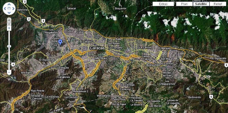 Carte Caracas pour Google Earth