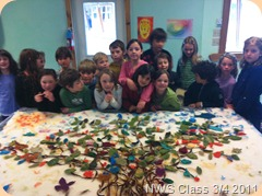 NWS Class 3/4 Felted Mural - The completed design