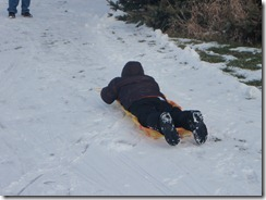 sledding. xmas, kateys bday 012
