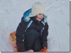 sledding. xmas, kateys bday 010