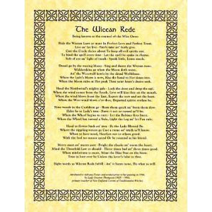 Wiccan Rede Poem Poster Cover