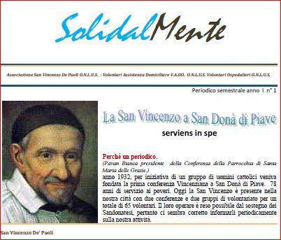 Solidalmente, periodico della San Vincenzo sandonatese