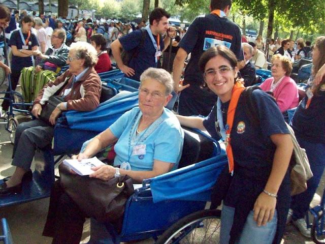 Diana Sorrentino a Lourdes per l'AVS con la Caritas Tarvisina