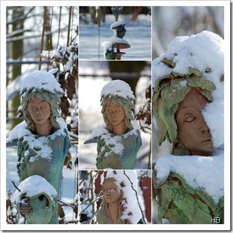 Broermann Skulpturen im Schnee © H. Brune