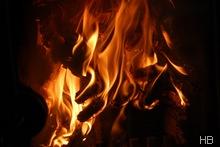 Feuer im Ofen © H. Brune